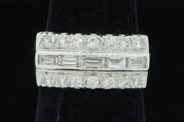 Vintage (ca. 1950) GEMART 14K White Gold Diamond Band (Size 4 1/2) - $715.00