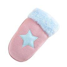 Star Pattern Gloves Kids Gloves Plush Gloves Knitted Gloves Warm Winter Mittens