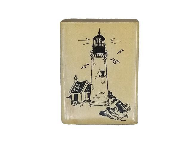Stampendous 1989 Lighthouse Rubber Stamp #H37