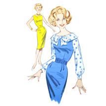 Vtg 60s Butterick 9630 Misses Sleeveless Sheath Dress Blouse Long Sleeve... - $8.95