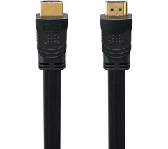 Flat Gold Plated HDMI Cable Black 2 m Up to 10.2GBps LOGIK L2FHDMI15 - $7.45