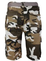 SW Men's US Force Military Army Multi Pocket Camouflage Cargo Shorts with Belt image 7