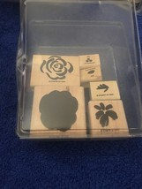 Stampin Up Flowers & Leaves 2 Step Rubber Stamp Set Of 6 1996 Used - $2.09
