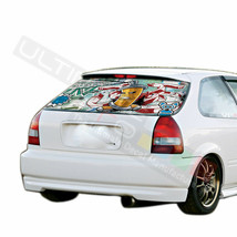 Sticker Bomb Skin Rear Window See Thru Stickers Perforated for Honda Civ... - $59.80