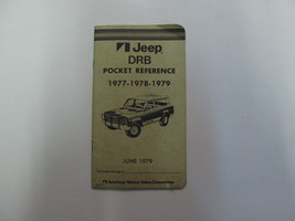 1977-1979 Jeep Technical Bulletin DRB Pocket Reference Manual Factory OEM Book - $24.70