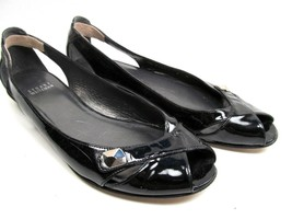 Stuart Weitzman Black Patent Womens Flats Size 8 M - $27.72