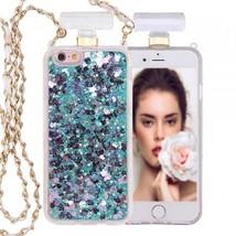 iPhone 6S / 6 Perfume Bottle Glitter Shake Star Dust Necklace Case (Green) - $15.00