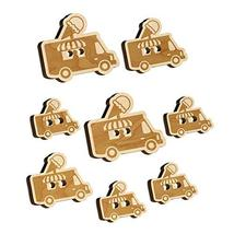 Ice Cream Truck Wood Buttons for Sewing Knitting Crochet DIY Craft - Various Siz - $9.99