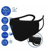 Reusable Face Mask with Filter (5 pcs),  Washable Cover BLACK - $7.91