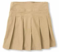 NWT Children's Place Girls 10 Tan Sandy Pleated Uniform Skirt - $6.99
