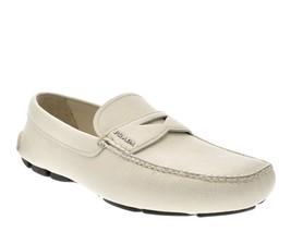 Prada Mocasines Blanco Saffiano Zapatos de Piel Número 9 Nuevo - $304.67