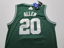 RAY ALLEN / NBA HALL OF FAME / AUTOGRAPHED BOSTON CELTICS PRO STYLE JERSEY / COA image 1