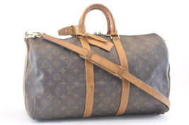 LOUIS VUITTON Monogram Keepall Bandouliere 45 Boston Bag LV Auth ki192 - $520.00