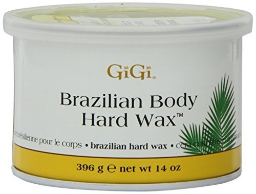 Gigi Tin Brazilian Body Hard Wax 14 Ounce 414ml 2 Pack