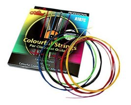 Colourful Coated Guitar Strings for Classical Guitars, Nylon, One Set - $15.67