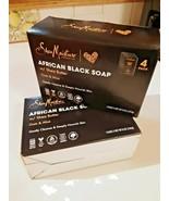 African Black Soap W/Shea Butter, Oats & Aloe –8 Bars – 8oz each NIB - $36.62