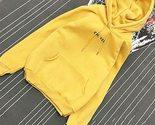 letter printing hoody woman pocket slim fit o neck pullovers women slim fit black thumb155 crop