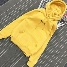 Autumn Simple Letter Printing Hoody Woman Pocket Slim Fit O-Neck Pullove... - $29.08