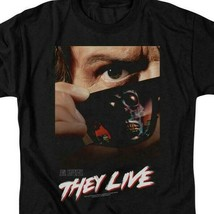 They Live t-shirt retro 80s Sci-Fi movie poster Roddy Piper graphic tee UNI607 image 2