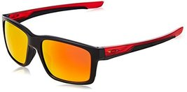 Oakley Men's Mainlink Non-Polarized Iridium Rectangular Sunglasses, Polished Blk - $173.00