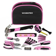 WORKPRO 103-Piece Pink Tool Kit - Ladies Hand Tool Set with Easy Carryin... - $48.39