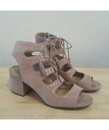Vince Camuto VP-Henley Studded Suede Lace Up Sandals Block Heel Size 10 - $40.00