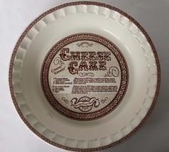 VTG Country Harvest Ceramic Cheesecake Pie Server Baker Cookware - $19.34