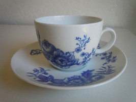 Royal Worcester Rhapsody Flat Cup and Saucer Set - $6.33
