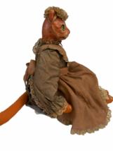 "Vintage Michael Berger Figure Figurine Art Sculpture Orange Cat Doll 21"" image 9"