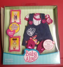 BABY ALIVE OUTFIT adorable in denim RARE NEW IN BOX - $23.99
