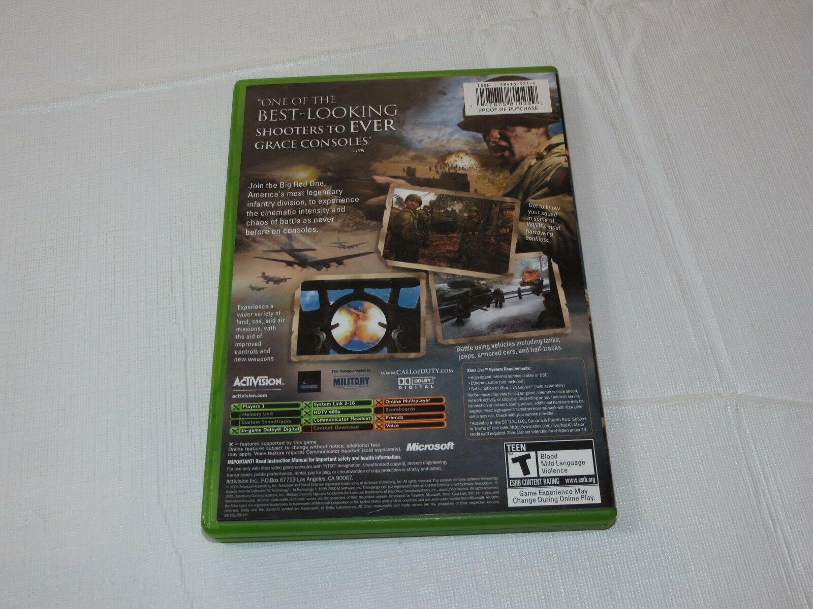 Call Of Duty 2: Grande Rosso uno Microsoft Xbox 2005 T-Teen Sparatutto Usato image 3