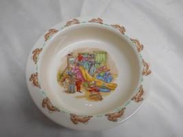 Old Vtg Royal Doulton [U.K] BUNNYKINS Baby Feeding Dish Cereal Bowl Fine Bone - $29.69