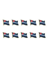 """LOT OF 10 LEATHER PRIDE FLAG LAPEL PIN 0.5"""" Hat Tie Tack Badge LGBT Gay ... - $15.69"""