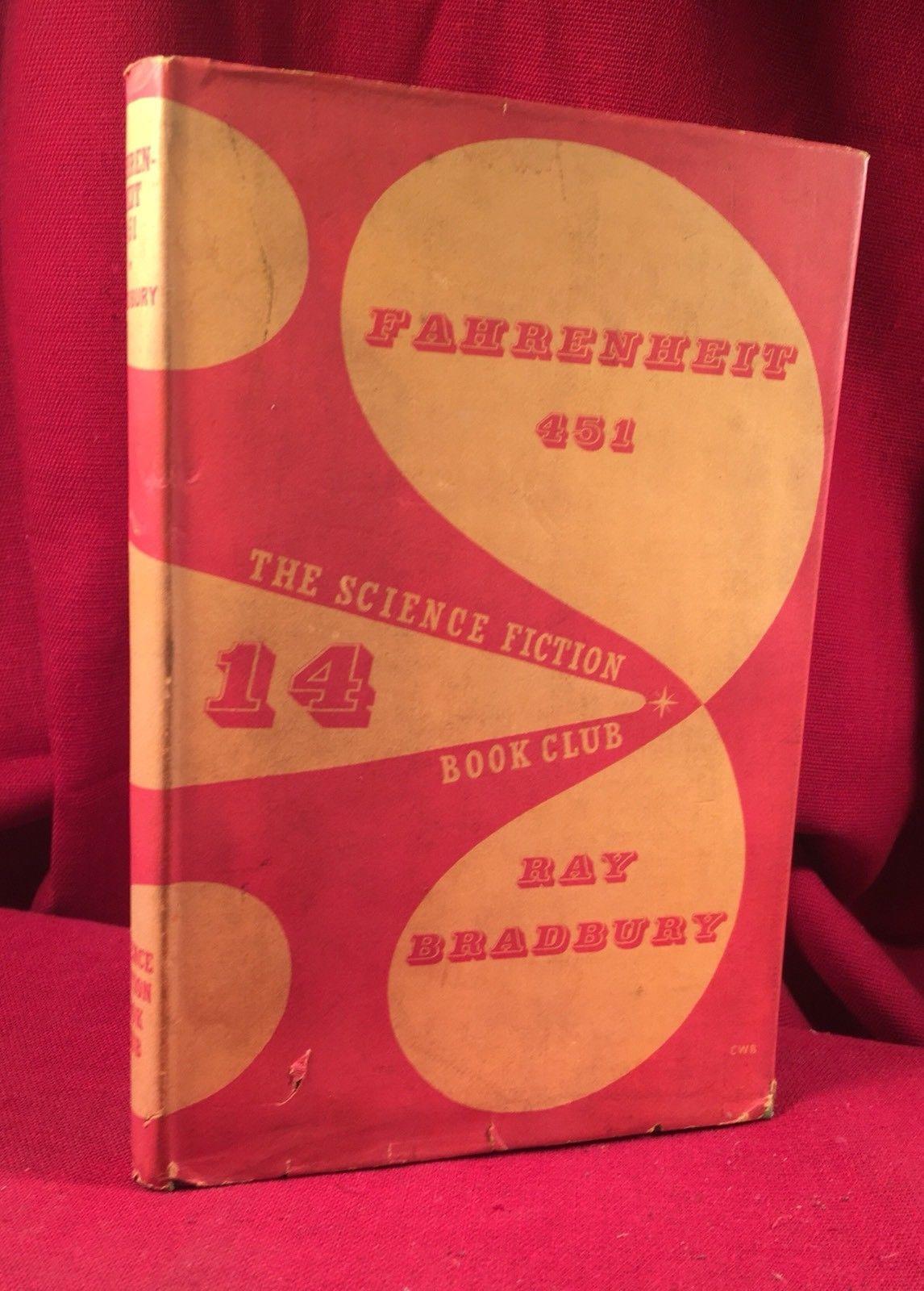 Ray Bradbury - Fahrenheit 451 - 1955 SFBC, signed in jacket