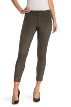 Hue Women Lace Up Microsuede Skimmer Leggings Cacao Brown M L 8 10 12 14 NWT
