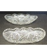Two ABP American Brilliant Period Cut Glass Relish Trays - $28.49