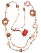 Necklace Antique Murrina, CO813A03, 90 cm, Pink, Circles Discs Crochet, ... - $134.99