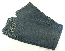 "Talbots ~ Womens Stretch Blue Dark Straight Soft Jeans ~ Size 6 Inseam 31"" - $12.16"