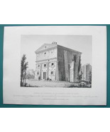 ARCHITECTURE (3) PRINTS 1850 - ITALY Rome Temple of Honor & Virtue View ... - $25.20