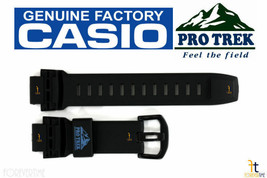 CASIO Pathfinder PRG-500Y Black Rubber Watch BAND Strap PRW-2000Y PRW-500 - $69.07