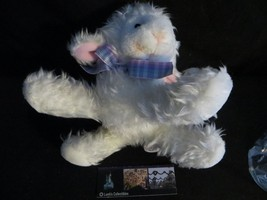 "Zondervan lamb small plush toy purple bow pink ears 7"" long - $10.49"
