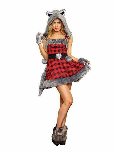 Dreamgirl Big Bad Wolf Furry Animals Sexy Adult Womens Halloween Costume 11182 image 2