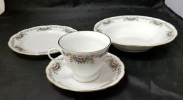Chinese Fine Bone China Set of 32, 8 Each Soup Bowls, Cups, Saucers, Bread Plate image 3