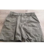 Mens Casual Shorts 34 100% Cotton Covington Olive Green 6 Pocket - $14.99