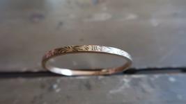 "Antique 12k Gold FIlled Hinged Victorian Bracelet 1 15/16"" inner diamete... - $26.72"
