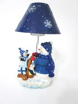 Home Trends Tealight Lantern Blue Snowman Ice Holiday Collection - $4.94