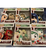 Funko POP! Heroes - DC Super Heroes- Full Set Of Six Christmas Themed DC... - $77.60