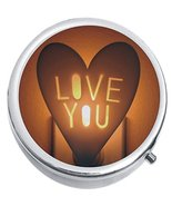 Love You Nightlight Medicine Vitamin Compact Pill Box - $9.78