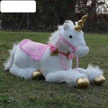 85cm White Jumbo Unicorn Plush Toys Giant Stuffed Animal Soft Doll  High Qlty  - $93.99