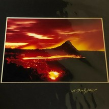 Signed G Brad Lewis Original Photograph 33A Volcano Scene Hawaii Matted ... - $29.60